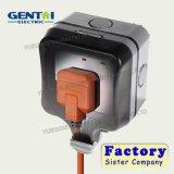 interruptor de 1gang 1way e soquete elétrico impermeável do interruptor do soquete
