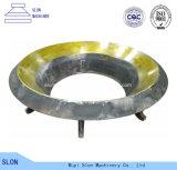 円錐形の粉砕機のための高品質のトリオボールはさみ金のふたそして凹面
