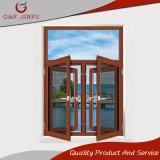 La madera de estilo americano, mirando la ventana de Casement de perfiles de aluminio con pantalla