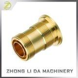 真鍮の部分の高精度CNCの旋盤の回転部品