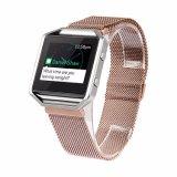 Fitbitの炎バンドのため、Fitbitの炎のためのミラノのループステンレス鋼の網の時計バンドのリスト・ストラップ