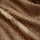 La moda de color marrón de tela de cortina en el precio barato