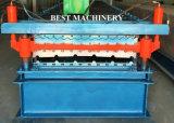 Folha/telha de alta velocidade do telhado da camada dobro que faz o rolo que dá forma à máquina