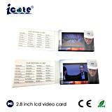 Tarjeta de felicitación video de la impresión modificada para requisitos particulares 2.8 ''
