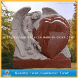 Custom Índia mão em granito preto para entalhar Monumento Anjo Headstone Tombstone