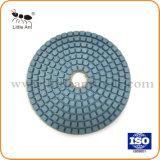 O feedback positivo 4'' Almofada de polir diamantes úmida para o Granito