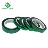 Pet resistentes al calor de la cinta Cinta de poliéster verde// la cinta de silicona para anodizado