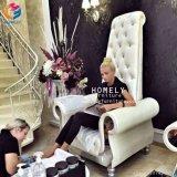 Mayorista Hly elegante blanco clásico pedicura sillas con plataforma personalizada