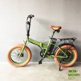 26*4.0脂肪タイヤが付いている電気バイクを折るアルミニウム