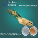 228808 de la peau humaine en caoutchouc de silicone pour les mains de prothèse