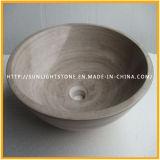 Естественная круглая желтая раковина мрамора Onyx для кухни и ванной комнаты