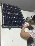 Beweglicher Sunpower 80W faltender Sonnenkollektor für WegRasterfeld System