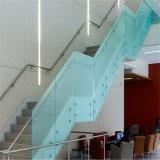 Балюстрада Railing Tempered стекла Frameless балкона с тупиком нержавеющей стали