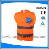 セリウムEniso20471が付いている熱い販売のオレンジ安全反射ベストのジャケット