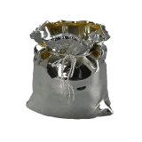 Гальванизируя керамический большой опарник мешка для домашнего украшения