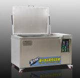 Máquina de limpeza industrial tensa com o transdutor de ultra-sónico mostrar no Youtube