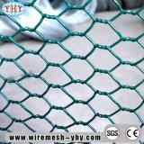 Tela metálica hexagonal galvanizada cubierta PVC usada para la cerca del jardín