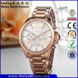 ODMの偶然の合金の水晶女性腕時計(Wy-106C)