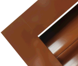 O pó de Brown revestiu o projeto externo de Windows dos obturadores fixos de alumínio da barra