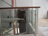 Trilhos de vidro ao ar livre de Frameless do aço inoxidável do balcão do preço de fábrica