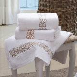 ロゴの昇進のホテルの綿の表面/手/浴室/ビーチタオル
