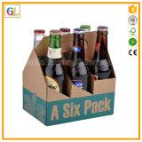 Boîte en carton personnalisé de la bière transporteur avec poignée