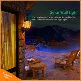 太陽壁ライト庭のドアのテラスのヤードのための明滅の炎LEDの屋外のダンス夜ライト防水新しいランタンデザイン