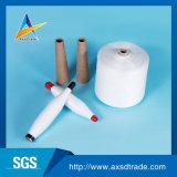 Matérias-White 20s fios fiados de poliéster para Costura / 100% de fibras de poliéster / preço barato de poliéster