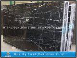 Мрамор черноты дракона Китая дешевый Polished серебряный для плиток настила
