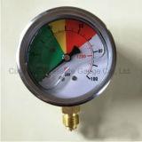 オイルの満たされた圧力計のスチール・ケース