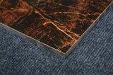 60X60 80X80の自然な石造りの一見の黒の金のセラミックタイル
