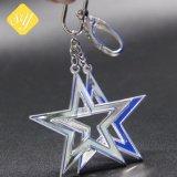 中国の工場カスタム金金属の星の形のキーホルダー
