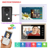 "sistema prendido de Doorphone /Doorbell intercomunicador video /Wireless WiFi de 7 "" 2 monitores"