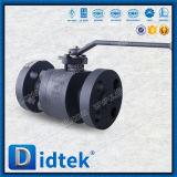 Didtek forjado de metales de acero fundido de la válvula de bola flotante sentado con la palanca