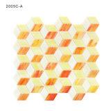 Wand-dekorative Diamant-Form-Farben-Glasmosaik-Fliese für Badezimmer