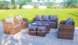 Mobilia esterna del sofà del rattan del salotto dell'hotel del giardino di svago del patio