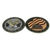 Kundenspezifisches MetallAntiqu Goldsilber-Kupfer-fördernde Münzen