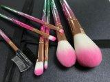 il mescolamento sintetico del fondamento di Kabuki degli strumenti dell'estetica di bellezza del kit di pendenza 7PCS arrossisce insieme di spazzola di trucco della spazzola della polvere di fronte del sopracciglio del Eyeliner