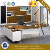 Blanc moderne L bureau de PC de réception de bureau de forme (UL-MFC464)