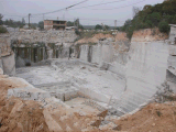 Mattonelle bianche delle lastre del granito del Tibet Viscont del proprietario della cava