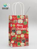 Bolso de empaquetado de la manera de la impresión del diseño de las compras de la Navidad del regalo de encargo del papel