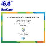 Étage composé en plastique en bois de Decking creux de WPC pour extérieur