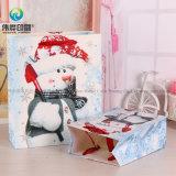Comercio al por mayor Venta caliente nueva bolsa de embalaje de papel regalo de Navidad con Logo