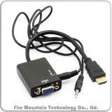 Hv01 het Mannetje van HDMI aan VGA Vrouwelijke Adapter voor de Tabletten MacBook van PC
