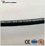 Goma trenzada de fibra de calidad de la manguera hidráulica SAE 100 R3