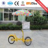 Neue Art-Eiscreme-mobile Karre mit Rädern für Verkauf