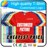 주문을 받아서 만들어진 로고 면 의류 및 선전용 t-셔츠