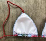 Ddigital Drucken-kundenspezifische Firmenzeichen-Form-Badebekleidungs-reizvoller Bikini für Frauen