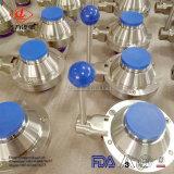 工場価格304/316Lの衛生ステンレス鋼の蝶球弁