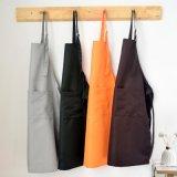 Grembiuli uniformi unisex di cottura impermeabili registrabili della cucina del cameriere del macellaio del cuoco unico della caffetteria di colore solido del grembiule della saia